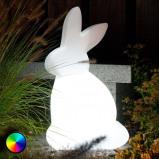 Afbeelding van 8 Seasons led decoratie lamp Stralende Rabbit voor buiten, polyethyleen, energie efficiëntie: A, B: 40 cm, H: 70 cm