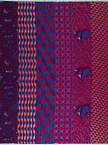 Zdjęcie Vlisco VL01471.023.02 Blue/Pink African print fabric Limited Editions Geometrical