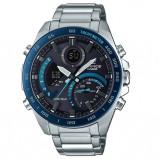 Afbeelding van Casio ECB 900DB 1BER Edifice Bluetooth horloge herenhorloge Blauw,Zilverkleur,Zwart