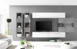 Afbeelding van Benvenuto Design Bex TV wandmeubel 12 Wit / Beton