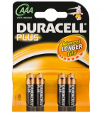 Afbeelding van Batterij Duracell Plus Power 4xAAA alkaline Staaf En Blokbatterijen