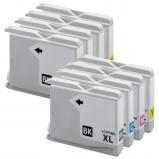 Afbeelding van Geschikt 2x Brother LC 970 XL multipack (inktcartridges) Alleeninkt