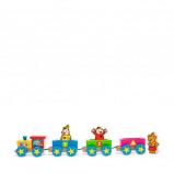 Afbeelding van Studio 100 Bumba houten trein met figuren
