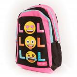 Afbeelding van Emoji LOL glitter dots rugzak