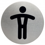 Afbeelding van infobord pictogram durable 4905 wc heren rond 83mm