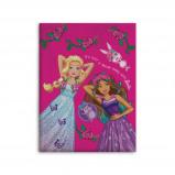 Afbeelding van Barbie fleecedeken 130 x 170 cm roze