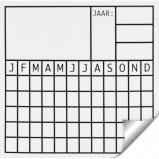 Afbeelding van Agradi Sticker Datum 5x5
