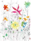 Afbeelding van Bloemen Spetterend 2 delig Vlies Fotobehang 184x248cm