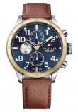 Afbeelding van Tommy Hilfiger Horloge Trent staal/leder 46 mm TH1791137