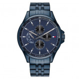 Afbeelding van Tommy Hilfiger TH1791618 Shawn horloge herenhorloge Blauw,Zilverkleur