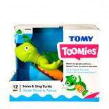 Afbeelding van TOMY badspeelgoed zwem & zing schildpad 21,5 cm groen