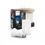 Afbeelding van Philips Hue Bluetooth White Ambiance E27 Lichtbron Single Pack incl. dimmer switch Wit