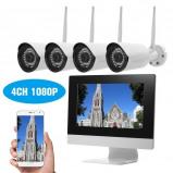 """Imagem de """"""""""""4 Canais HD 1080 P Kit NVR Sem Fio NVR 10.1 """"""""""""""""Gravador de Vídeo em Rede + 4 pcs 720 P Câmera IP WiFi"""""""""""""""
