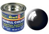 Billede af (07) Aqua Color, Black gloss (RAL 9005) 18 ml Revell