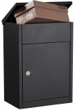 Image of Allux 500 parcel mailbox (Colour: black)