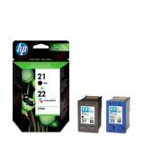 Afbeelding van HP 21BL/22COL inktcartridge 2 pack (zwart + kleur)