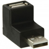 Afbeelding van USB 2.0 A male female 90 haakse adapter