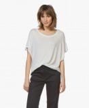 Afbeelding van Fine Edge T shirt Silver Grey Oversized Wolmix