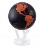 Afbeelding van Mova wereldbol op zonne energie Ø 11,5 cm Koper en zwart (CBE)