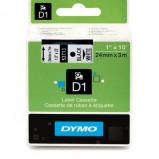 Billede af Dymo S0720930 standardtape D1 sort på hvid 24mm x 7m Dymo 53713 original