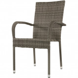 Afbeelding van Corona terrasstoel grijs