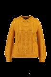 Abbildung von FSTVL by MS Mode Damen Strickpulli mit Pompons Gelb