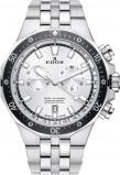 Afbeelding van Edox 10109 3M AIN herenhorloge wit edelstaal