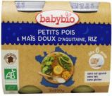 Afbeelding van Babybio Groenten Erwten Mais Rijst 6 Maanden 200 gram, 2x200 gram