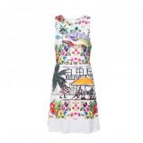 Afbeelding van Desigual A lijn jurk met all over print wit