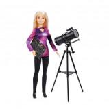 Afbeelding van Barbie astrofysicus National Geographic 26 cm paars/zwart