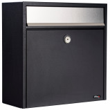 Image of Allux 250 mailbox (Colour: metallic/black)