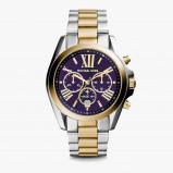 Afbeelding van Michael Kors MK5976 Bradshaw Navy horloge herenhorloge Zilverkleur