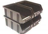 Afbeelding van Erro 160802ZW Muurstrip met 4 B2 bakjes 205 x 170 140mm