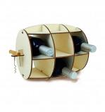 Afbeelding van Invotis Wijnrek voor 6 flessen met kurketrekker Barrel