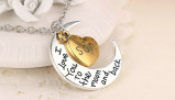 Imagine din 'Love You to the Moon...' Necklace For Mom, Sister, Daughter, Son or Brother
