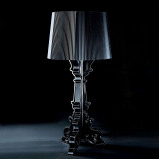 Afbeelding van Kartell led design tafellamp Bourgie, zwart, voor woon / eetkamer, kunststof, E14, 3.6 W, energie efficiëntie: A, H: 78 cm
