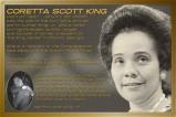Afbeelding van Coretta Scot King Afrikaans Amerikaanse Historie Poster 91.5x61cm Educatieve Posters