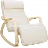 Afbeelding van AA Commerce Schommelstoel Met Voetensteun Verstelbare Ligstoel Relaxstoel