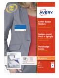 Afbeelding van avery badge congresspeld met combiklem 90 x 54 mm