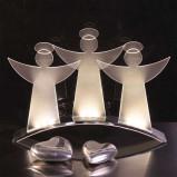 Afbeelding van Best Season fascinerende led lichtboog Engel, chroom, acryl, energie efficiëntie: A+, B: 30 cm, H: 41 cm