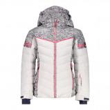 Afbeelding van CMP Girl Jacket Snaps Hood 38W0475 Winterjas Junior Bianco 140