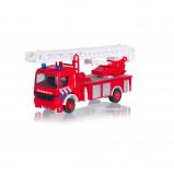 Afbeelding van Basic 112 Pull Back Brandweerwagen met Licht en Geluid 1:43