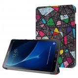 Afbeelding van 3 Vouw kleurrijke boom stand flip hoes Samsung Galaxy Tab A 10.1 inch (2016)