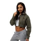 "Bilde av ""Better Bodies Woman Better Bodies Astoria Cropped Hood Wash Green"""