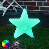 Afbeelding van 8 Seasons shining Star 100 LED buitendecoratielamp RGB 1, polyethyleen, energie efficiëntie: A, B: 90 cm, H: 94 cm