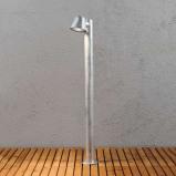 Afbeelding van Konstmide zilveren padlamp Trieste uit staal, staal, acryl, GU10, 35 W, energie efficiëntie: A++, B: 11.5 cm, H: 100 cm