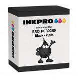 Bilde av Brother PC302RF 2 stk. fargebånd 2 x 250 sider Erstatter