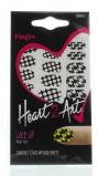 Afbeelding van Fing'rs Heart2art lace up nagelstickers 1 stuk