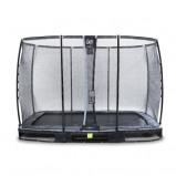 Bilde av EXIT Elegant bakketrampoline 214x366cm med Deluxe sikkerhetsnett svart