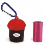Abbildung von Beeztees Kotbeutel Cupcake+Beutel Rot 5cmx8cm
